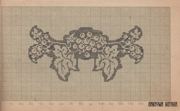 Старинная схема для филейной вышивки. СССР, 1938 г. An old Soviet fillet pattern. USSR, 1938.