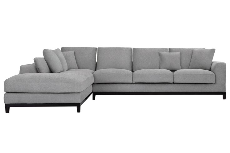 Kellan Sectional Sofa with Left Chaise, Light Gray - Kellan Collection - Collections | Capsule
