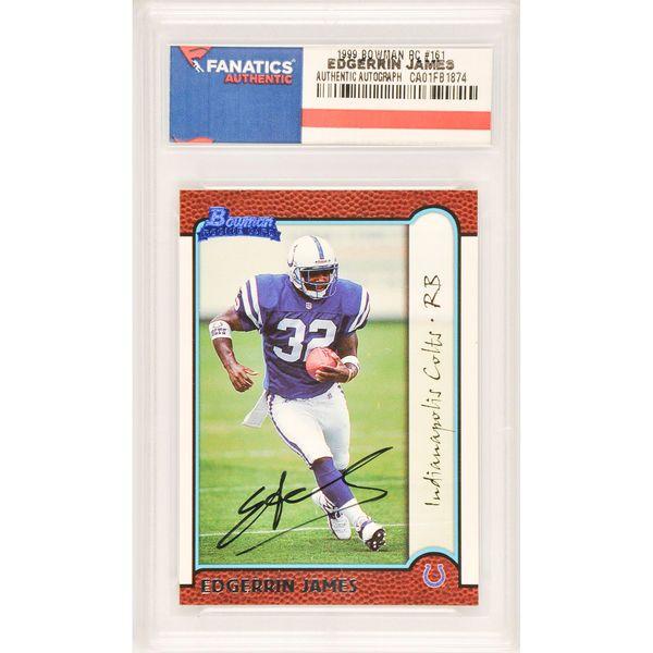 Edgerrin James Indianapolis Colts Fanatics Authentic Autographed 1999 Bowman Rookie #161 Card - $59.99