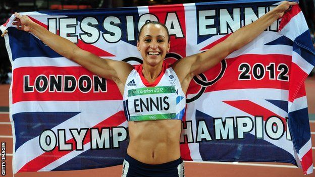 Jessica Ennis takes Gold for Team GB in Heptahlon - how she ran her heart out to win the final event in style even though she didnt have to - simply inspiring