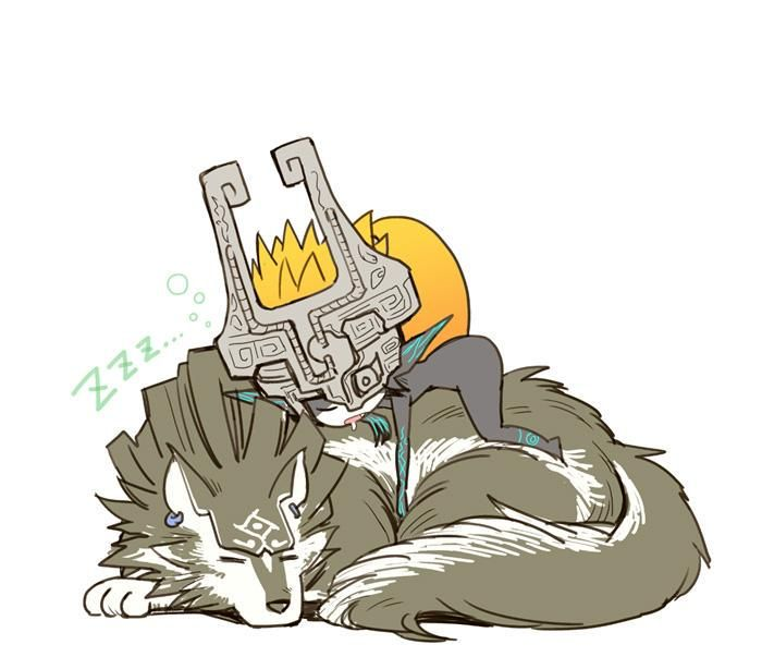 Wolf Link + Midna