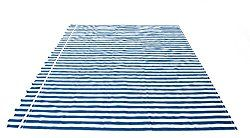 ALEKO® Awning Fabric Replacement 12×10 Ft for Retractable Awning, BLUE/WHITE STRAP