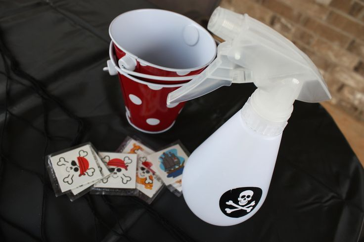 Tattoo Booth for Spring Fling w/ pirate themed tattoos! pirate-tattoo-station-fun-for-kids