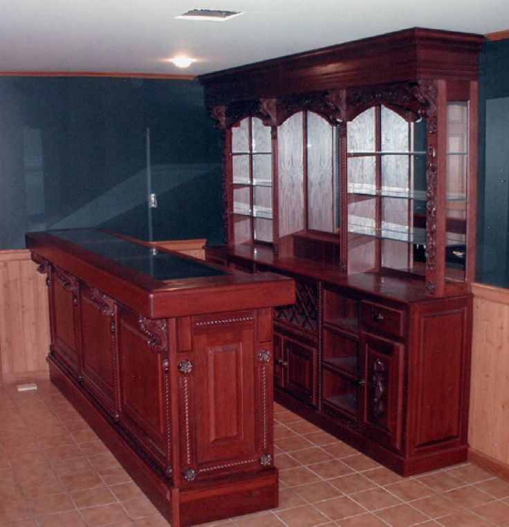 Glass Back Bar