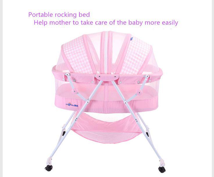 Bebê berço concentretor cama dobrável carry portátil com rolo de cama berço do bebê recém nascido em Bebê Berços de Mãe & Kids no AliExpress.com   Alibaba Group