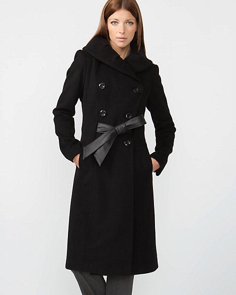 Double Breasted Cashmere-Blend Coat