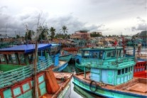 Fishing boats, Phu Quoc, Vietnam.  http://sweetmotherofblog.com/travelling-in-vietnam-with-toddler/  #fishingboats, #vietnamesefishingboats, #phuquoc,