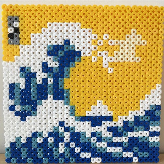 The Great Wave of Kanagawa perler beads by mushroomwashere