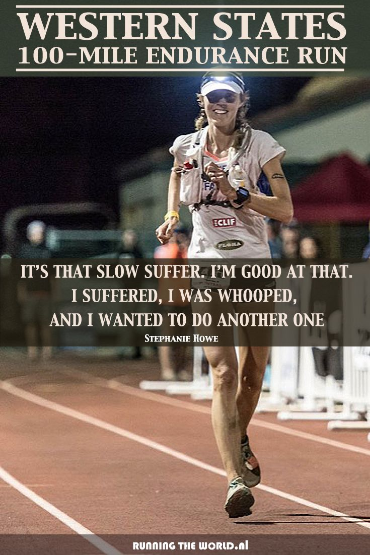"""IT'S THAT SLOW SUFFER. I'M GOOD AT THAT. I SUFFERED, I WAS WHOOPED, AND I WANTED TO DO ANOTHER ONE."" - Stephanie Howe, Winner Western States Endurance Run #WSER 2014, will defend her title June 27-28 during #WS100 2015, the oldest 100 Mile Trail Race in the world. Read all about it: http://www.runningyourlife.nl/want-know-western-states-endurance-run/ Picture by Matt Trappe @UltraRunning.com"
