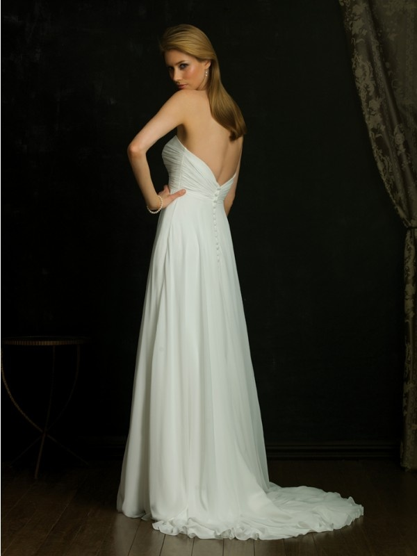 Empire Vintage Wedding Dress with Sweetheart Neckline MBD3119