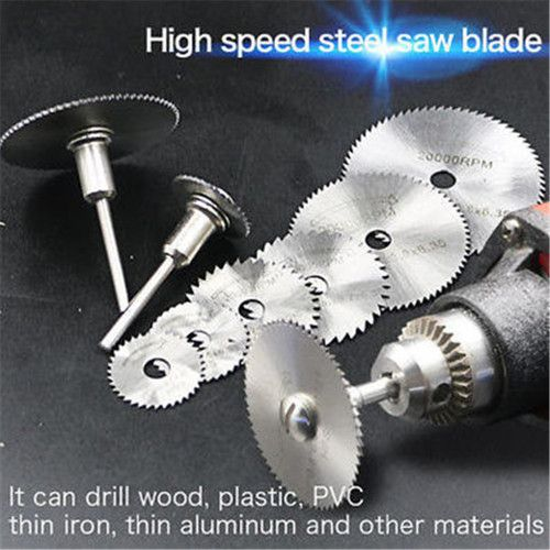 7pcs/set Mini HSS Rotary Tool Saw Blades For Metal Cutter Power Set Wood Cutting with Rods 22 25 32 35 44mm. Starting at $1