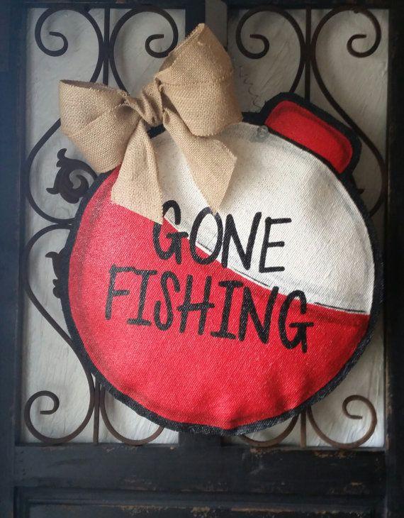 Peint les accroche-porte toile de jute signe par ConnieRisleyCrafts