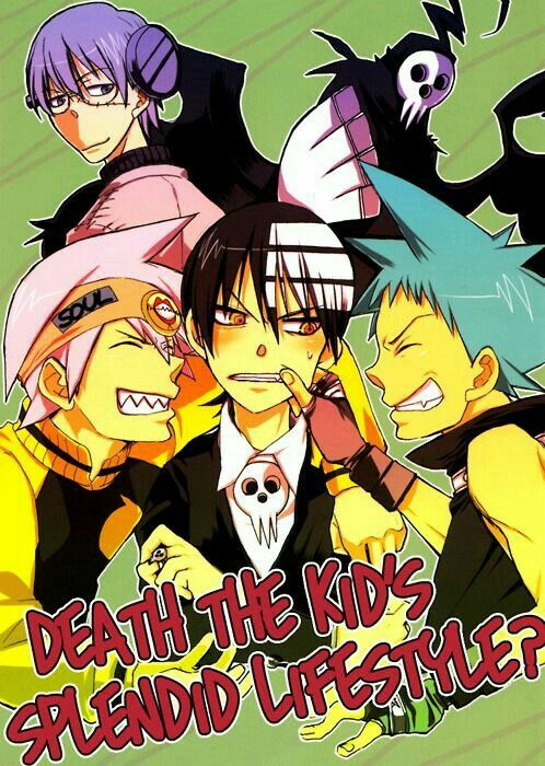 Death the Kid's Splendid Lifestyle?, text, funny, Death the Kid, Soul, Black Star, Lord Death, Stein, blushing; Soul Eater