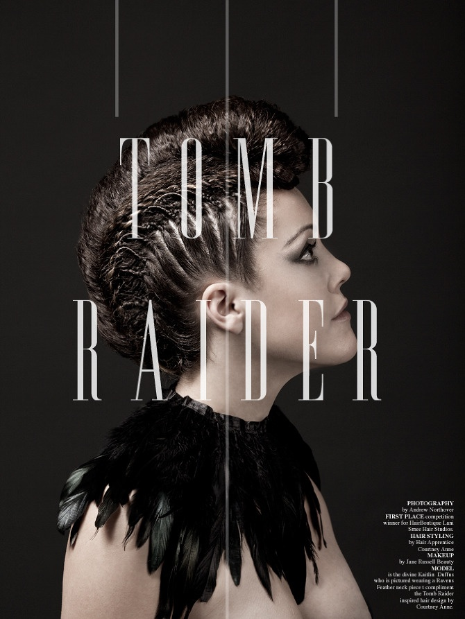 A photo I took for a hair design competition. Inspired by Tomb Raider.