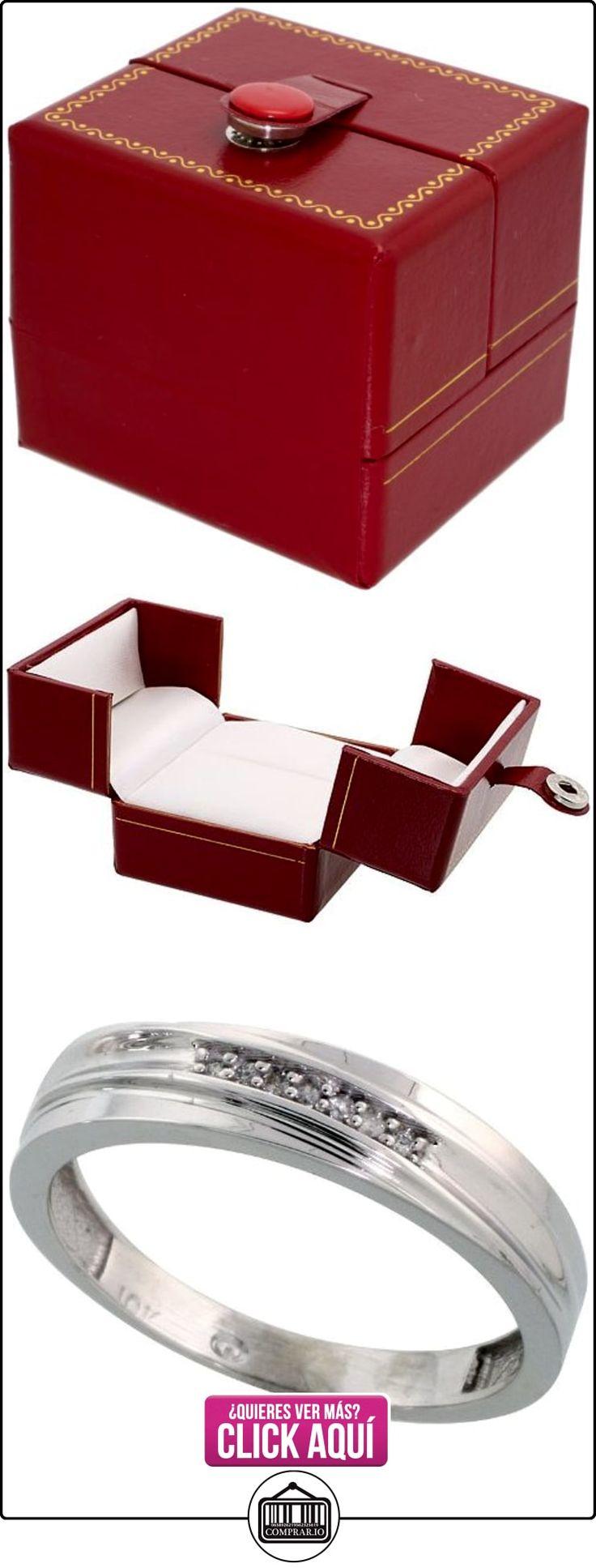 Revoni - Juego de alianzas de oro blanco  ✿ Joyas para hombres especiales - lujo ✿ ▬► Ver oferta: http://comprar.io/goto/B005M3C36O
