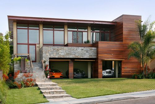 modern wood siding . redo front of house | home entrance & porch