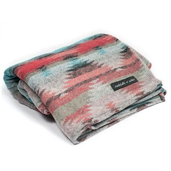 Turquoise Tribal Blanket, by Sackcloth & Ashes. For every blanket purchased, Sackcloth & Ashes gives a blanket to your local homeless shelter!