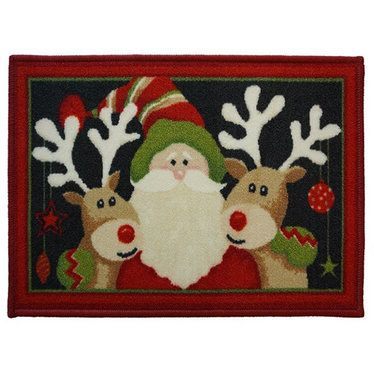 Santa and Reindeer Christmas Themed Door Mat http://www.childrens-rooms.co.uk/santa-and-reindeer-christmas-themed-door-mat.html #santaandreindeer #festivedormat #christmasrug