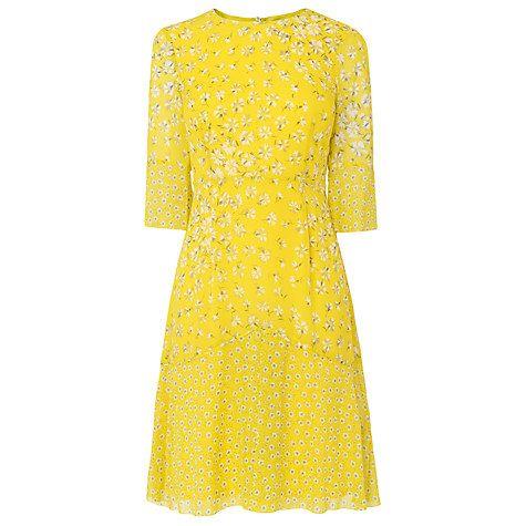 Buy L.K. Bennett Ros Flippy Godet Floral Print Silk Dress Online at johnlewis.com