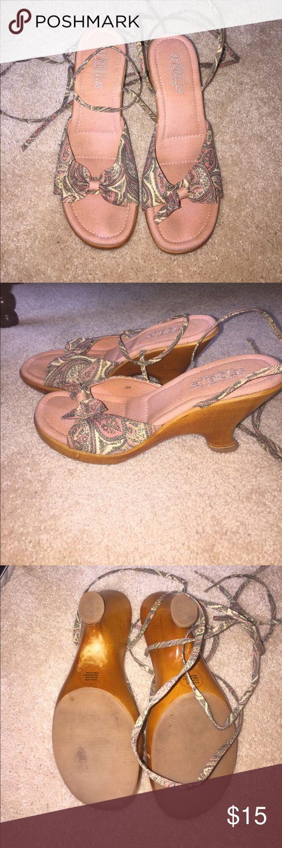 Vintage Seychelles shoes Lace up Seychelles shoes.  Size 10. Vintage Seychelles Shoes Platforms