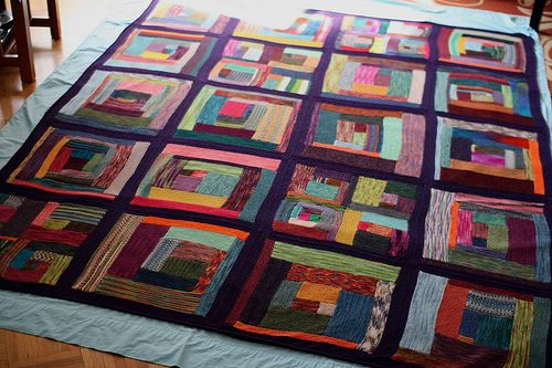Insanity Blanket Knitting Pattern : Insanity Blanket the Second Knitting Pinterest Nyc, Logs and Log cabins