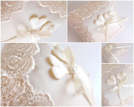 ivory ring pillow lace ring pillow wedding ring pillow ivory ring bearer