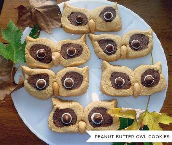 Peanut Butter Owl Cookies - so cute!