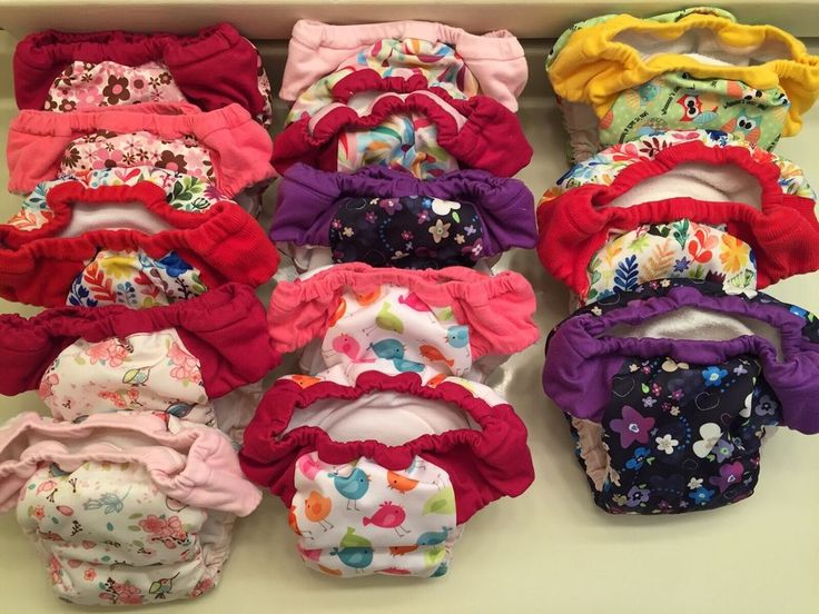 Cloth Pull Up Diapers Or Training Pants, Lot Of 13