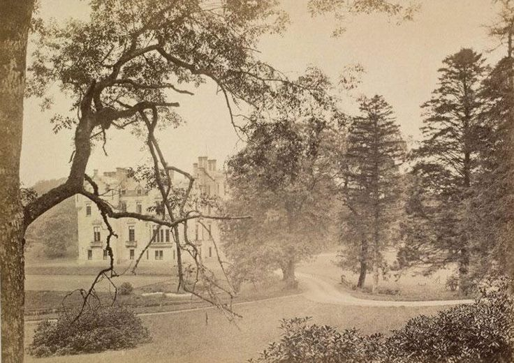 A Misty Picture of Dunlop House Ayrshire in the 1880's