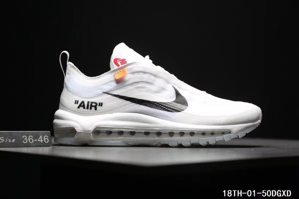 f94eb4c6e4117f Cheap Off White X Nike Air Max 97 The Ten OW Unisex shoes White Black  WhatsApp 861332837359