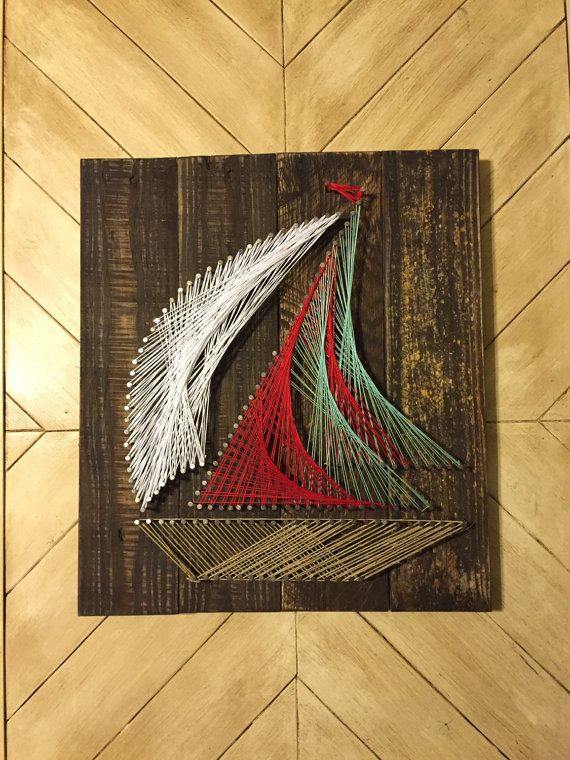Sailboat String Art  by AmazingGraceGallery on Etsy