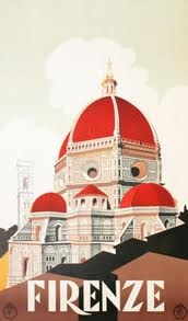 vintage travel poster: firenze, italy