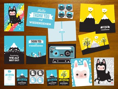 25 creative postcard designs for inspiration - Postcard Design Ideas