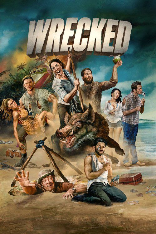 Watch Wrecked Full Episode HD Streaming Online Free  #Wrecked #tvshow #tvseries (Single-camera comedy centering on a diverse group of survivors adjusting to being stranded on an uninhabited island, a dangerous new world where they must face many threats – mostly brought on by themselves. No longer plugged into the rest of the world, the group struggles to navigate their makeshift society while also learning to live without such modern comforts as indoor plumbing, Wi-Fi, social media and…