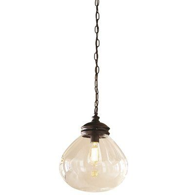 roth 12 in bronze edison style pendant light with clear shade lowes. Black Bedroom Furniture Sets. Home Design Ideas