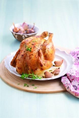 Poulet rôti au four - Larousse Cuisine