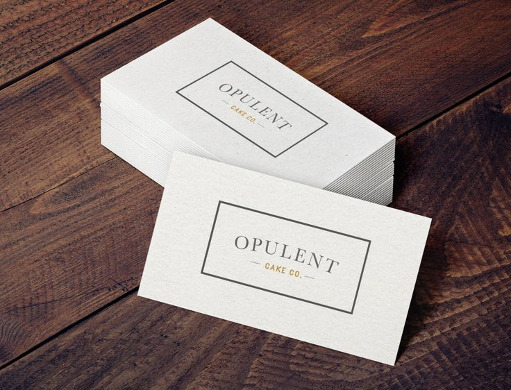 Cards for Opulent Cake Co.
