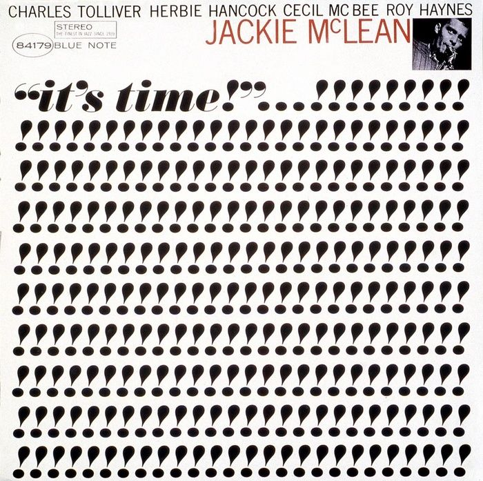 Jackie McLean - It's time Ultra Bodoni, Trade Gothic