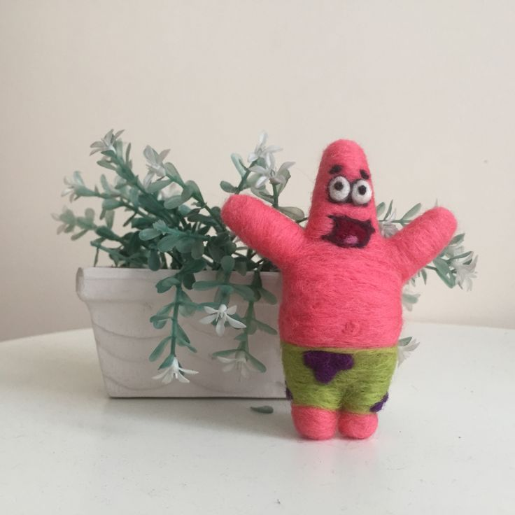 Patrick star needle felt catchafelt on instagram