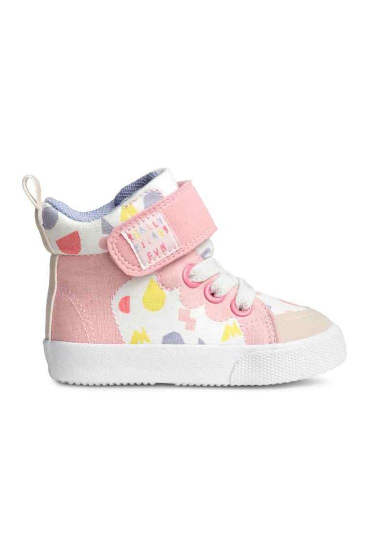 Patterned trainers - White/Light pink - Kids | H&M CA 1