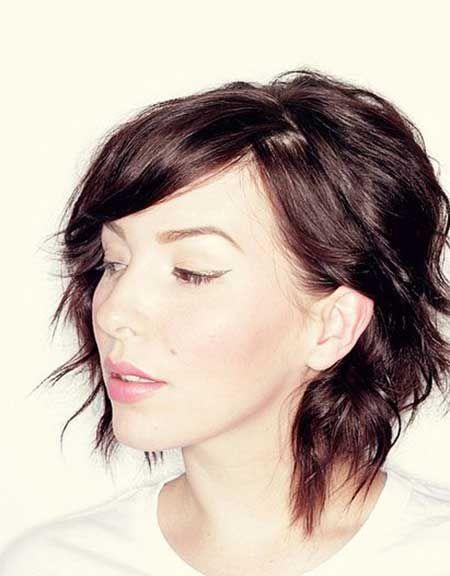 Lovely Asymmetric Wavy Bob Cut Hair & Make up Pinterest
