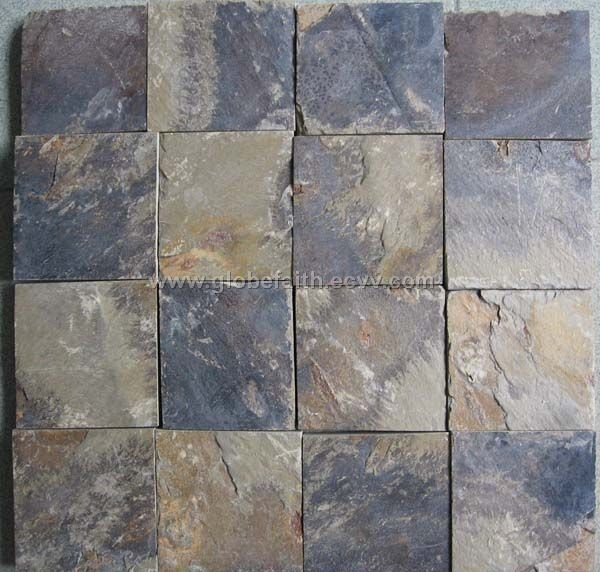 Mosaic Slate Tiles For Shower Floors To Go Along With