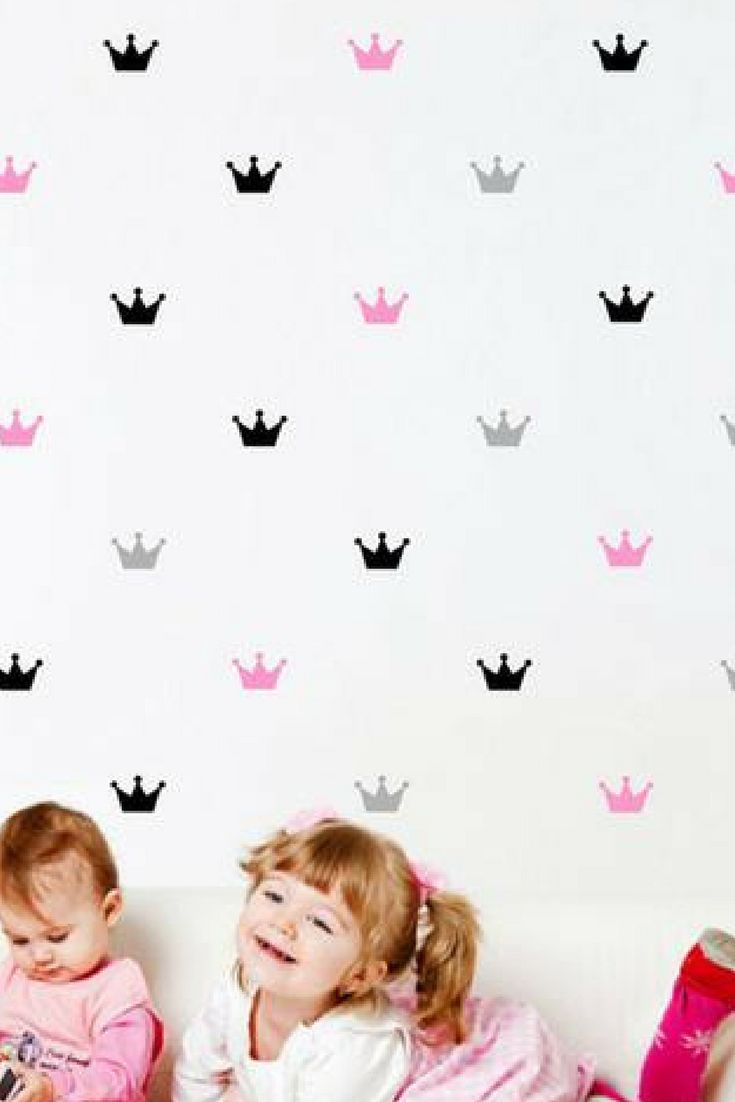 Crown wall decals fit for a little princess.