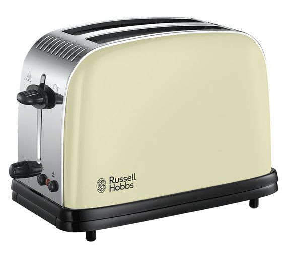 Buy Russell Hobbs Colours+ 2-Slice Cream Toaster 23334 at Argos.co.uk, visit Argos.co.uk to shop online for Toasters, Kitchen electricals, Home and garden £30