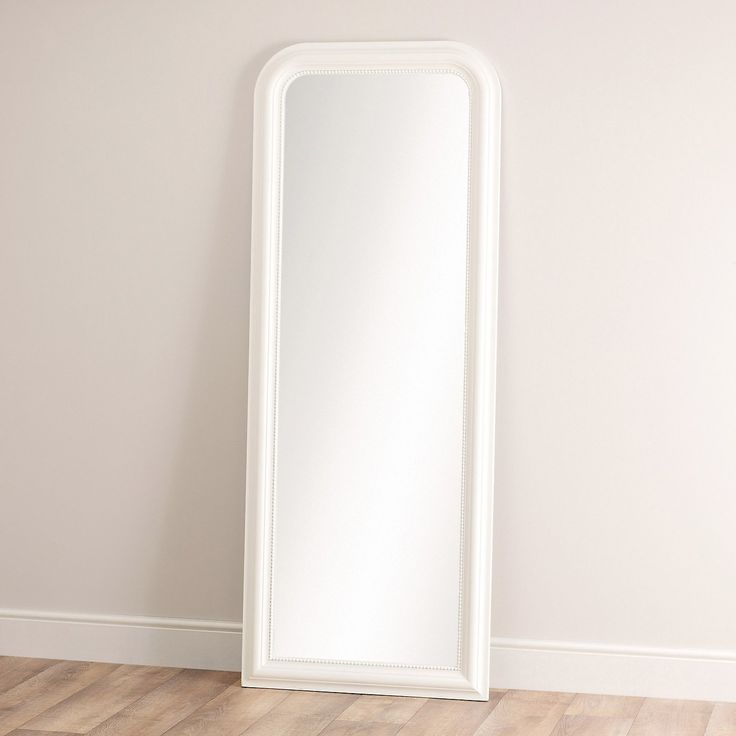 Madison full length mirror grey the white company for Gray full length mirror