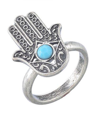 MJartoria Antique Silver Color Turquoise Bead Deco Hamsa Hand Ring Size of 7 MJartoria http://www.amazon.com/dp/B00XMCXRIK/ref=cm_sw_r_pi_dp_pevvvb0CRTVTJ