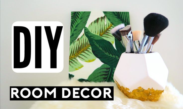 DIY Room Decor! Spice Up Your Room For Spring! Cheap & Simple Room Decor... - Glitter Coasters, Gold foil dipped holder,