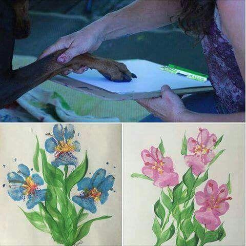 Supercute! Pawprint art!