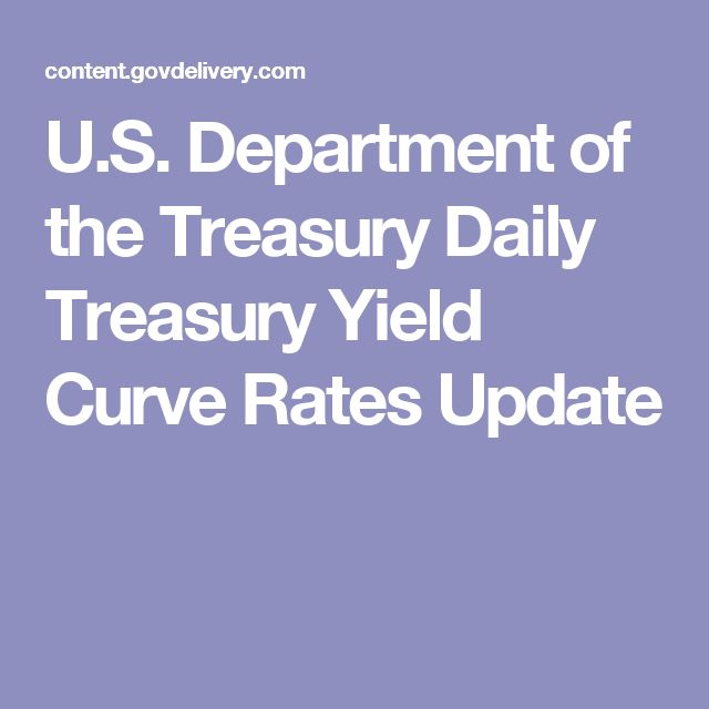 U.S. Department of the Treasury Daily Treasury Yield Curve Rates Update