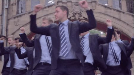 """British men in suits singing Shakira=baby like this is PERFECTION! For their latest project, the group performed an INCREDIBLE medley of Shakira's hits """"Hips Don't Lie,"""" """"Waka Waka,"""" and """"Whenever, Wherever."""""""